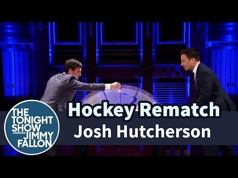 Josh Hutcherson and Jimmy Have a Hockey Rematch
