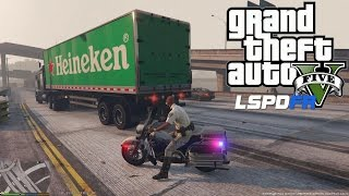 GTA 5 - LSPDFR - EPiSODE 7 - LET'S BE COPS - MOTORCYCLE HIGHWAY PATROL (GTA 5 PC POLICE MODS) PITS