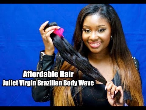 Affordable Hair   Juliet Virgin Brazilian Body Wave Hair Extensions.