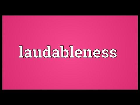Header of laudableness