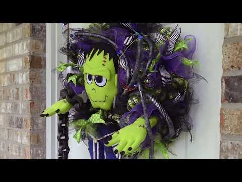 FRANKIE AND HIS SHOCKINGLY COOL ACCESSORY: A Frankenstein Halloween Wreath Tutorial