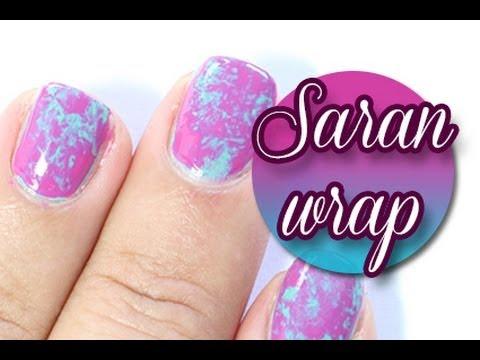 How to: Saran wrap nails