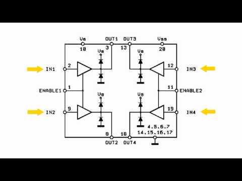 Микросхема драйвера двигателей