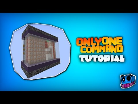 Minecraft One Command Block Tutorial How to create machines with only one command
