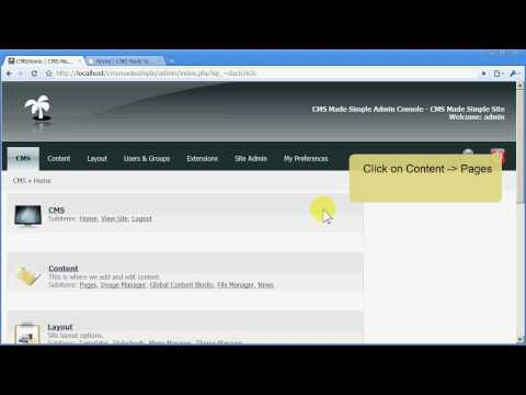 How to edit a page with CMS Made Simple