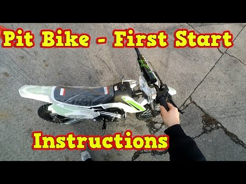 Pit Bike, Dirt Bike 110ccm - First Start - Instructions + Test Ride