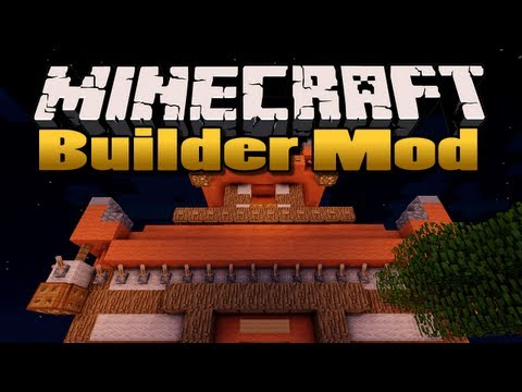 Minecraft: Builder Mod Build massive structures in seconds