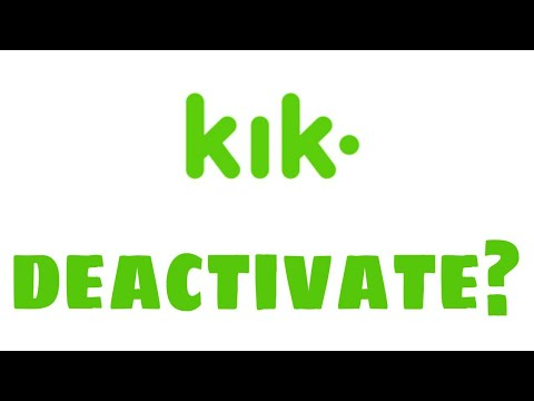 How to deactivate Kik account on android