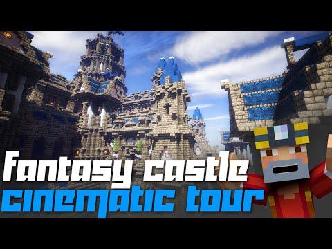 Minecraft Xbox 360: Massive Fantasy Castle Cinematic + Tour + Download!