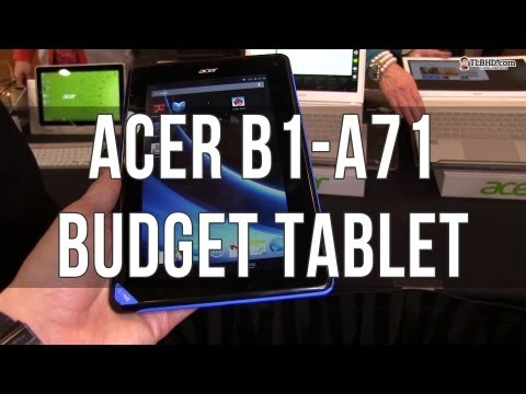 Acer Iconia B1-A71 budget tablet hands on preview