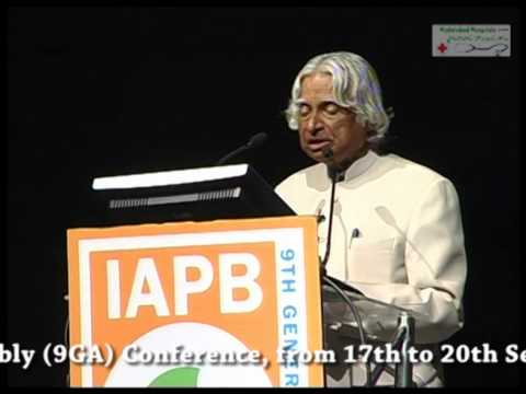 Dr. A. P. J. Abdul Kalam Speech In Iapb 9th General Assembly At Hyderabad video