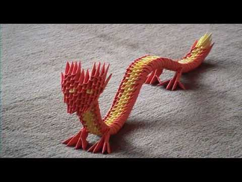 3D-Origami ~ Chinese Dragon (english) - YouTube