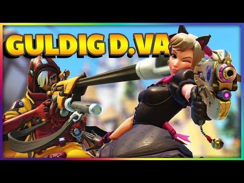 Guldig D.Va - D.Va & Ana Master Rank Overwatch på Svenska Gameplay