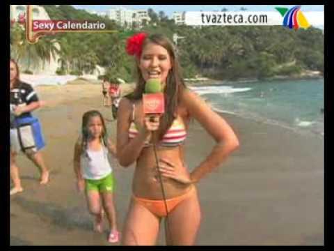 Vanessa Claudio Presenta Sexy Calendario En Manzanillo - YouTube