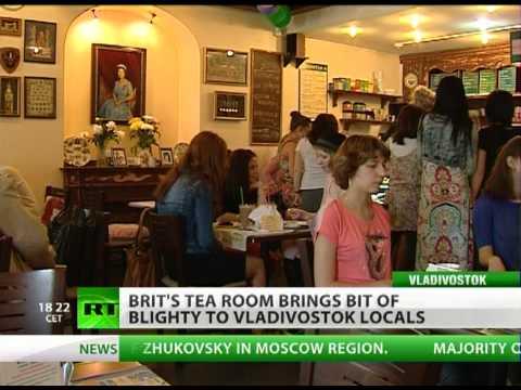 Brit's tea room brings bit of Blighty to Russia's Far East