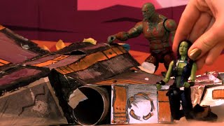 Guardians Of The Galaxy Vol 2 🌌 Episode 1: Crash Landed Spaceship| Toy Play Set |Toy Store For Kids