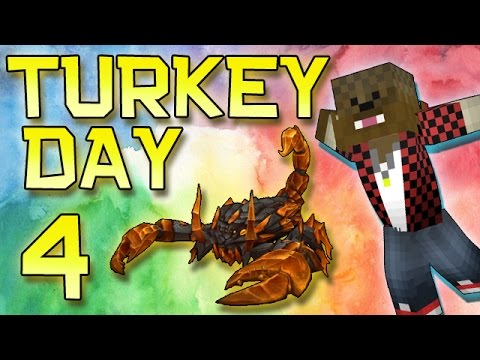 Minecraft: Modded Turkey Day Thanksgiving Survival Let's Play w/Merome 4 - Scorpion Weapons & Armor!