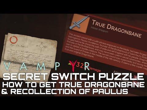 Vampyr SECRET PUZZLE How To Get True DragonBane Sword & Recollection of Paulus Aurelianus