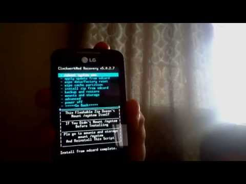 Actualizar Android KitKat 4.4 LG Optimus hub (E510 y E510f)-(Leer descripción del video)