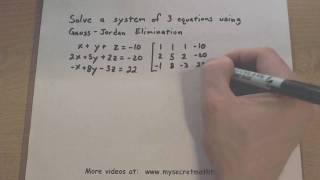 Pre-Calculus - Gaussian Elimination