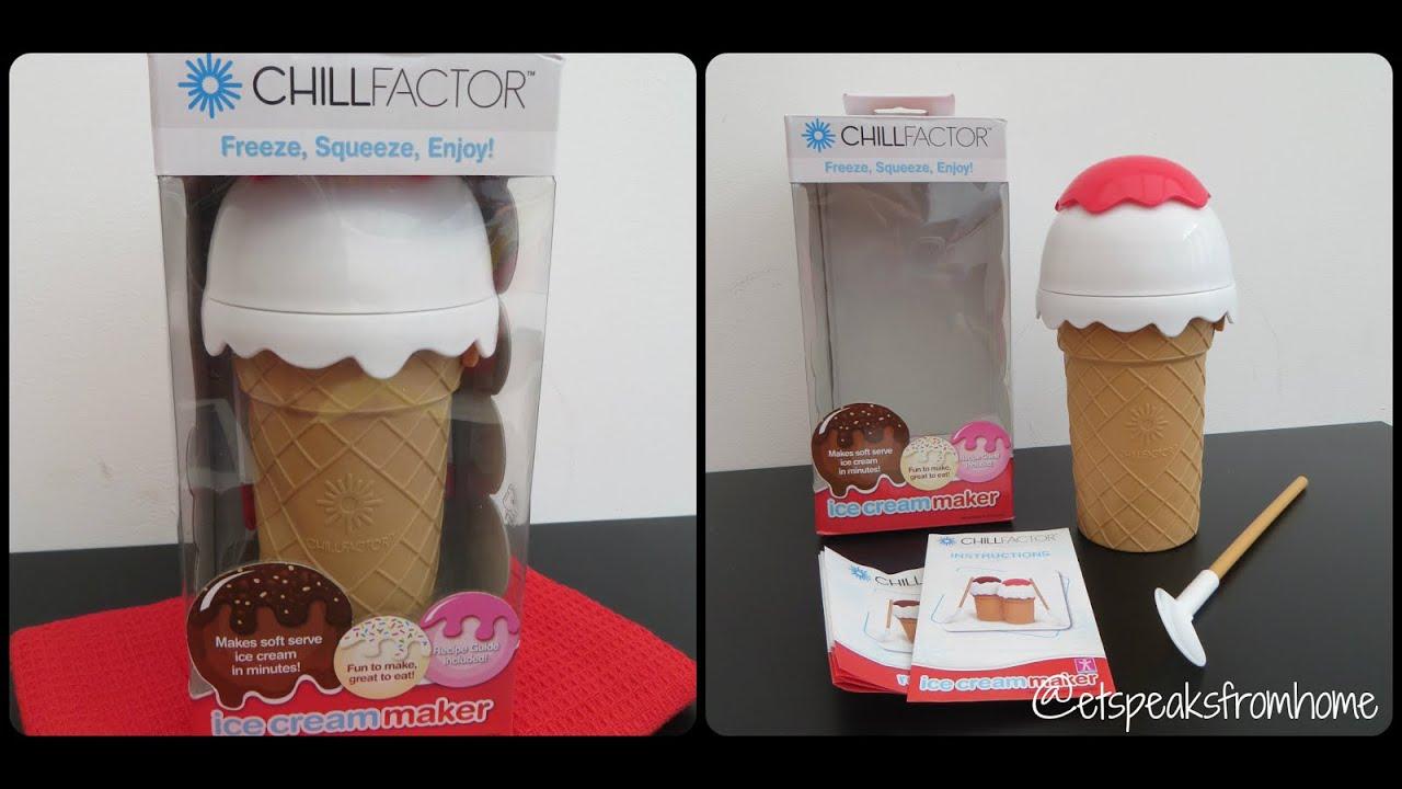 chill factor ice cream maker instruction sheet