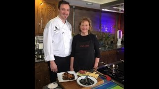 Chef Lynn cooking with Chef Ryan Friedrich of Streetside Seafood
