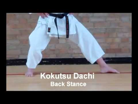 Karate Stances Basic Shotokan Stances Kokutsu Dachi - Back Stance video
