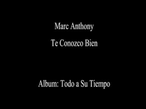 Marc Anthony - Te Conozco Bien - YouTube