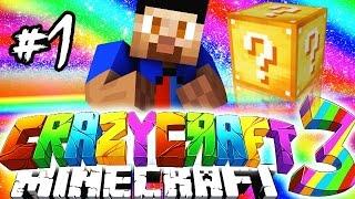 Minecraft Mods: CRAZY CRAFT #1 'LUCKY BLOCK!' with Vikkstar (Crazy Craft 3.0 SMP)