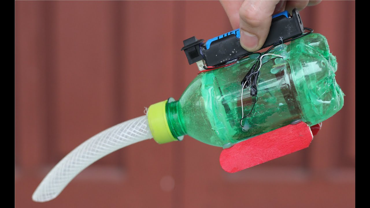 Пылесос из пластиковых бутылок своими руками ютуб