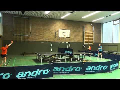 Spektakuläres TT-Fun Profi Match (03:31 Min) Größter Tischtennis Tisch der Welt | Biggest TableTennis Match