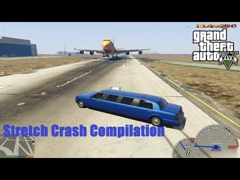 GTA V Stretch/Limousine Car Crash Compilation