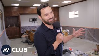 Jake Johnson shows around the office of his new Netflix animated show, Hoops