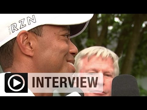 Tiger Woods kämpferisch.