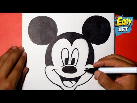 how to draw mickey mouse disney  como dibujar a mickey mouse