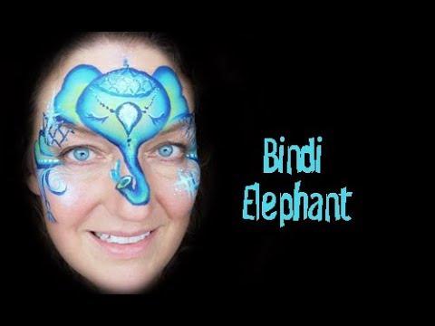 Bindi Elephant Slide Show Face Paint Step By Step