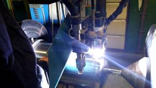 SAF Plasma TIG Seam Welding System for Welding Dished End Vessels