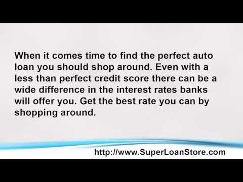 Super Loan Store and Auto Loan Interest Rates and your Credit Score