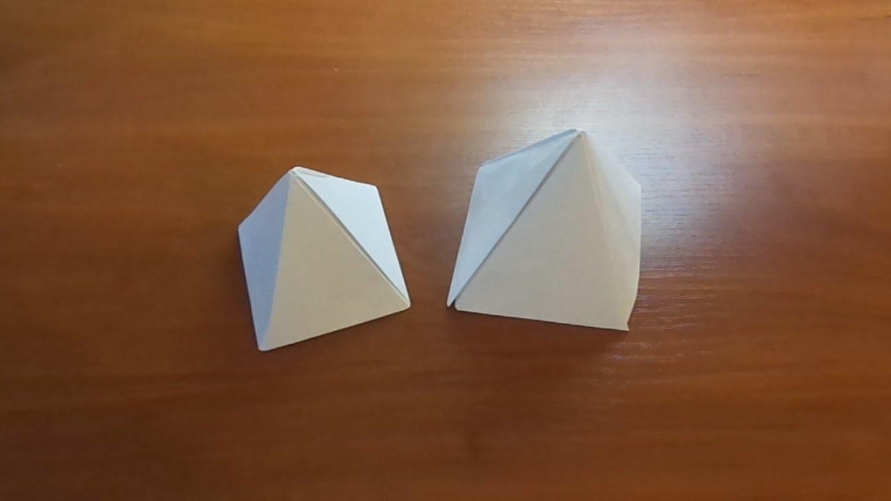 Как сделать пирамиду из бумаги схемы