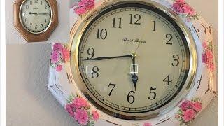 Diy:renovacion de reloj de pared (Vintage)