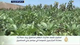معاناة مزارعي نهر العاصي بريف حماة