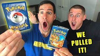*WE PULLED THE BEST POKEMON CARD!* Opening VINTAGE BASE SET Booster Box of Cards!