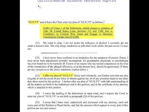 TNT Dinar Guru - Guilty Plea Renfrow - TNT Tony - Docs 14 daily plus Pyramid Scheme Scam