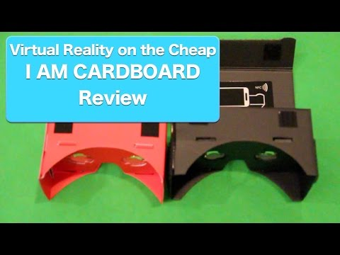 I AM CARDBOARD Review, Google Cardboard Virtual Reality Headset