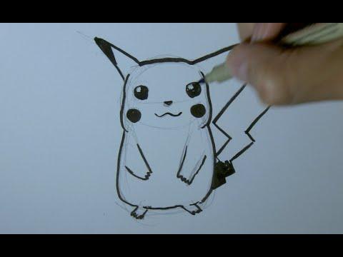 Comment dessiner pikachu tape par tape facilement youtube - Comment dessiner des animaux facilement ...