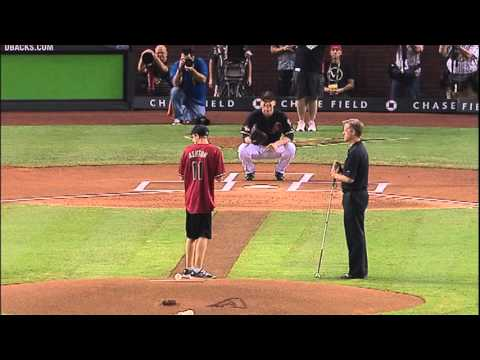 Foundation for Blind Children Throws 1st Pitch at Game 4 of the 2011 NLDS between the Arizona Diamondbacks and the Milwaukee Brewers on Oct. 5. FBC graduate Max Ashton throws a perfect strike...