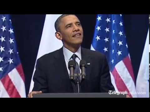 Obama heckled during Israel speech