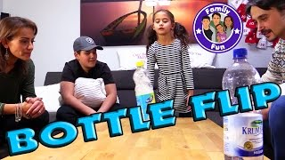 WATER BOTTLE FLIP CHALLENGE | Die Herausforderung! | FAMILY FUN