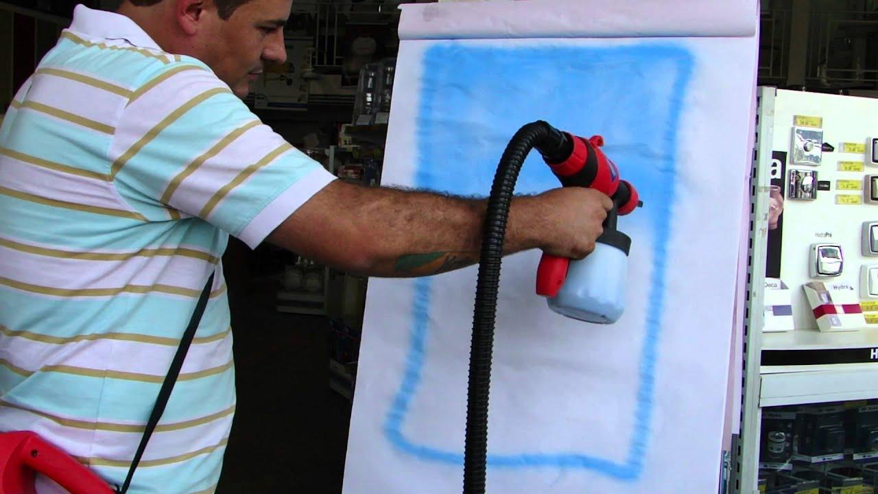 Pistola de Pintura Mini Compressor Terra Paint 350W Depósito Zona  #1069BB 1920x1080