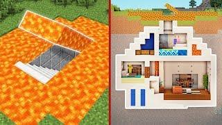 Minecraft: How to Build a Modern Secret Base Tutorial #3 - (Hidden House)